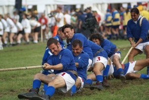 Italian tug of war team